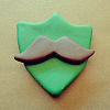 interest - mustache badge