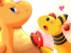 Dragonite and Amphy