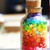 Kiwi Crocus: Rainbow || Paper stars jar.