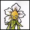 White anemone person