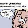 inkvoices: avengers:clint comic bandaids