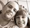 с женой