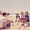 I just like watching things explode.: 1d five idiots on a beach