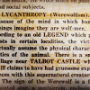 Lycanthropy: The Wolfman