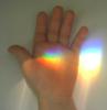 с радугой в руке