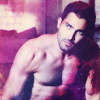 Derek shirtless and hurting