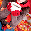 осень с чашкой