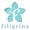 filigrina, blue logo