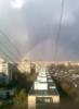 радуга, окно