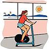 фитнес. девушка на велике