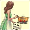 у плиты