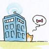 TARDIS kitten bowtie