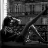 thinking on a balcony