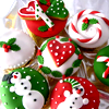 Christmas cookies red-green