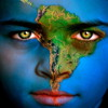 earth eyes south america face