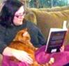 kitty, reading
