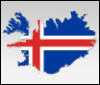 iceland flag-map