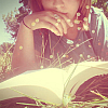 inkvoices: girl reading sunshine