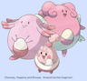 Happiny Chansey Blissey