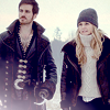 Captain Swan in the snow