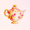 Princess June: Floral Teapot