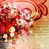 (праздничное) розы в стиле ретро