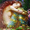 mermaid redhead resting head