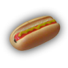 hot dog with mustard 2