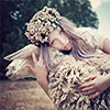 [misc] sheep & flower crown.