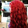 red hair, curl