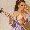 stock: retro hammer chick