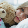 sick with teddy bear