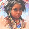 Индейская девочка