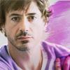 people: robert downey jr purple shirt