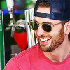 evans → beard; smile