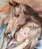 дева с лошадью смеётся