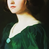 art  → the lady in green