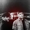 Supernatural Benny/Dean b&w