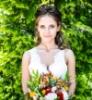 платье, девушка, букет, счастье, Свадьба