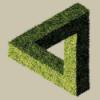 треугольник Эшера зеленый