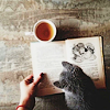 archerdixon: coffee+reading+kitty