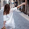 verona, white dress