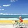 море, небо, Велосипед