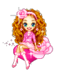 Розовая девочка