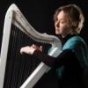 A harpist