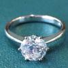 кольцо с одним бриллиантом, кольцо с большим бриллиантом, кольцо 1 карат, кольцо с крупным бриллиантом