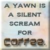 coffee yawn