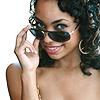 Roxanne Washington: sunglasses smirk