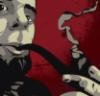 трубокур, человек с трубкой, курит трубку