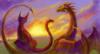 дракон и кошка